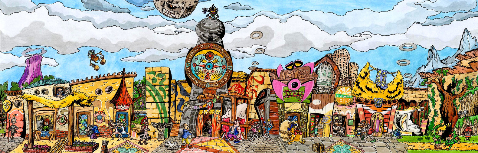 clock_town___tingle__s_rosy_rupeeland_style_by_skull_the_kid-d5n2iew